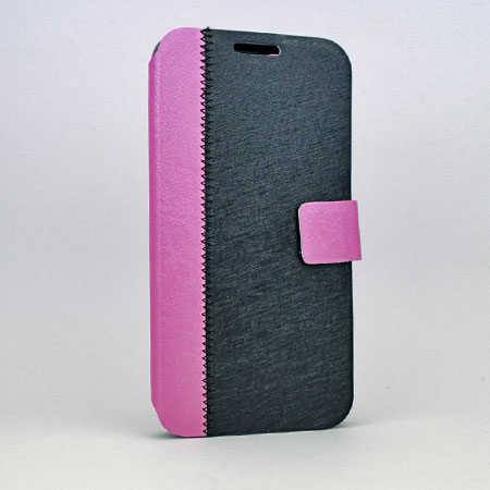 S4-WALLET-BK/PINK - WHOLESALE SAMSUNG GALAXY S4 CASES & COVERS