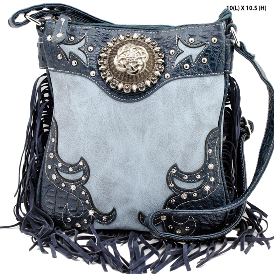 COM-5275-PURPLE - WHOLESALE WESTERN FRINGE CROSSBODY BAGS