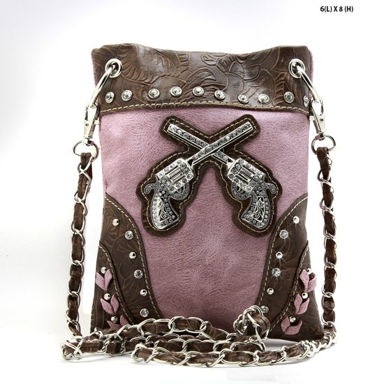 GNS-76-6817-PINK - WHOLESALE RHINESTONE CRYSTAL CELLPHONE CASES/POUCHES
