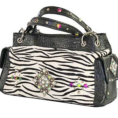 HIDE-CW73-ZEBRA - WHOLESALE DESIGNER HANDBAGS/BHW BRNAD HANDBAGS