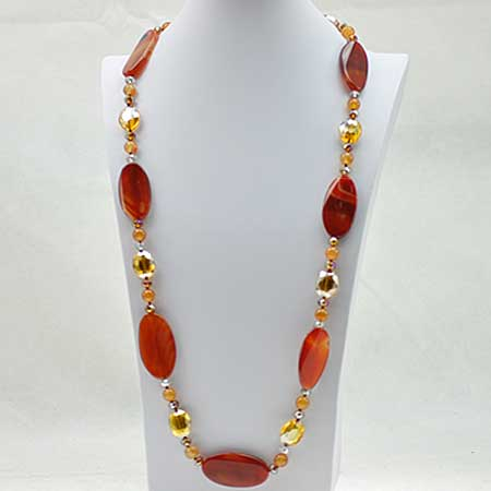 NKL-20-SUN - WHOLESALE GENUINE CRYSTAL AND GLASS NECKLACE