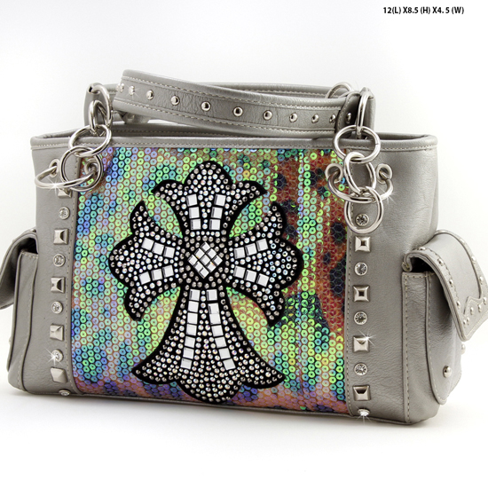 PS-893-PEWTER - WHOLESALE WESTERN PURSES