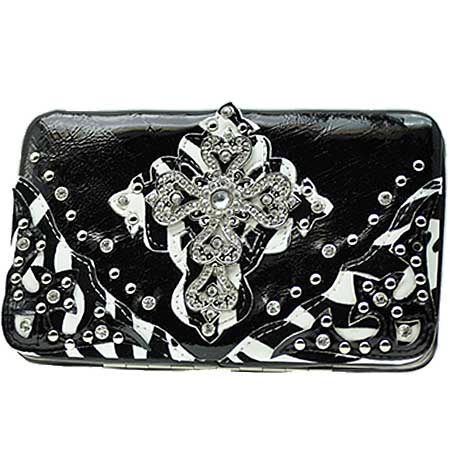 .RAFZ-LCR-305-BLACK - WHOLESALE FLAT WALLETS/OPERA STYLE METAL FRAME