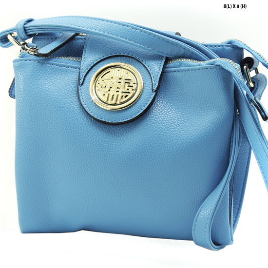 T-1180-BLUE - NEW DESIGNER INSPIRED RUNWAY STYLE HIPSTER PURSE MESSENGER BAG