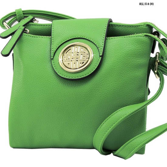 T-1180-GREEN - NEW DESIGNER INSPIRED RUNWAY STYLE HIPSTER PURSE MESSENGER BAG