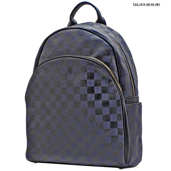 T-1209-NAVY - DESIGNER INSPIRED BACKPACK STYLE BAGS
