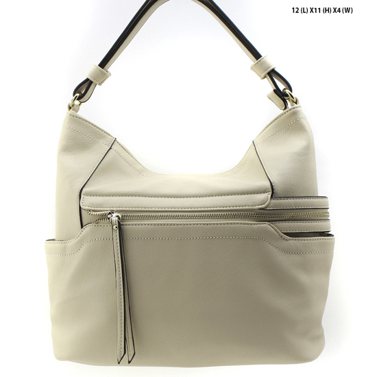 T-1268-BEIGE - NEW DESIGNER INSPIRED RUNWAY PURSES