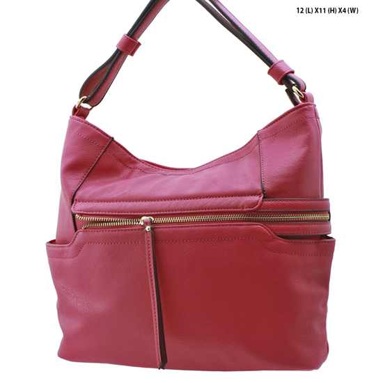 T-1268-RED(BERRY) - NEW DESIGNER INSPIRED RUNWAY PURSES