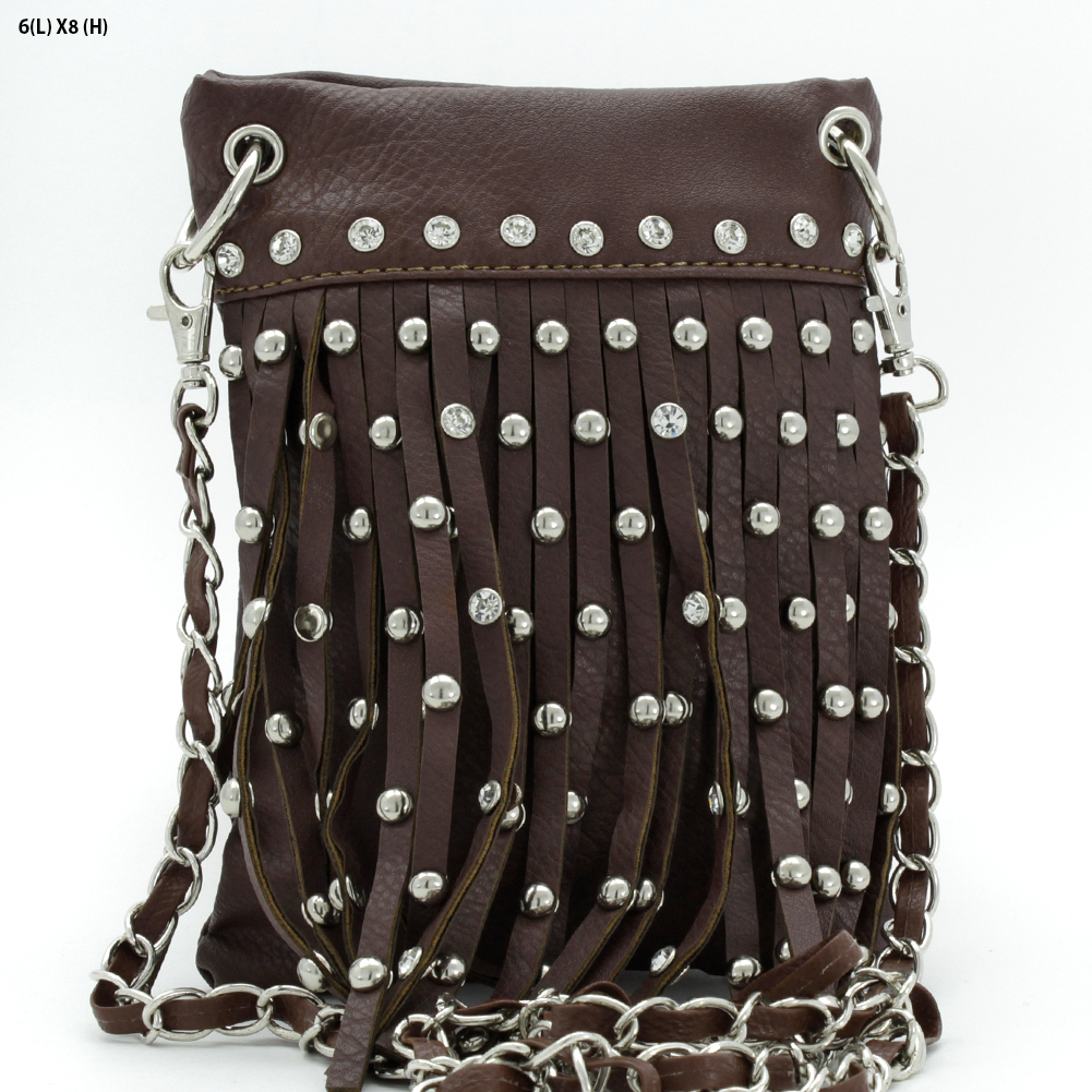 Fringe iPhone Bags - WHOLESALE RHINESTONE FRINGE CELLPHONE CASES/POUCHES