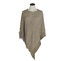 PONCHO-SHIMMER-10568-TAUPE