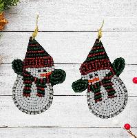 ER2691-SNOWMAN-EARRINGS
