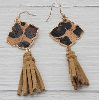3211-LEO-BRN-EARRINGS