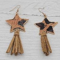 3211-STAR-LEO-BRN-EARRINGS
