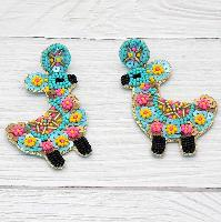 3373-LLAMA-TQ-EARRINGS