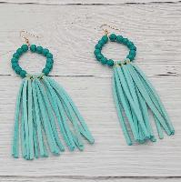 3779-TASSEL-TURQ-EARRINGS