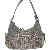1408-GREY - WHOLESALE ALL GENUINE DESIGNER LEATHER HANDBAGS