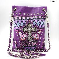 LCR-KW1211-2030-PURPLE - WHOLESALE RHINESTONE CRYSTAL CELLPHONE CASES/POUCHES