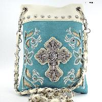 CROSSBODY PHONE BAG  - WHOLESALE RHINESTONE CRYSTAL CELLPHONE CASES/POUCHES