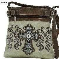 Rhinestone Cross Body Bags - Western Cross Body Messenger Style Concealed Weapon Bags