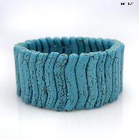 710158-TURQ - WHOLESALE WESTERN TURQUOISE STRETCH BRACELETS