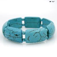 710159-TURQ - WHOLESALE WESTERN TURQUOISE STRETCH BRACELETS