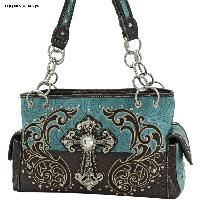 CRE-893-TURQ - WHOLESALE WESTERN CROSS PURSES