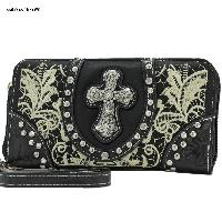 Top Zip Cross Wallets - WHOLESALE TOP ZIP WESTERN WALLETS