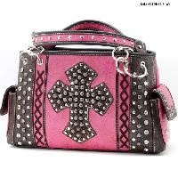 HHC-893-HTPK - WHOLESALE WESTERN HAIR ON HIDE CROSS PURSES