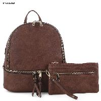 4034-BACKPACK-2PCSET-BROWN