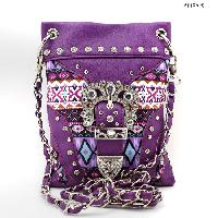 BKLE-1211-2030-PURPLE - WHOLESALE RHINESTONE CRYSTAL CELLPHONE CASES/POUCHES