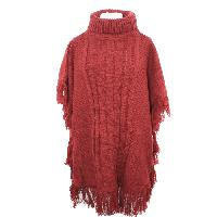 192-RED-KNIT-PONCHO