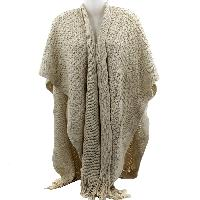 PONCHO-XL/LONG-BEIGE