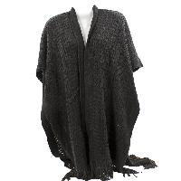 PONCHO-XL/LONG-BLK