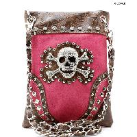 SKULL-2030-HTPK - WHOLESALE RHINESTONE CRYSTAL CELLPHONE CASES/POUCHES