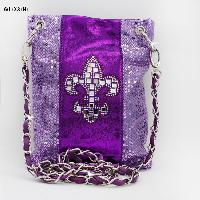 2030-NSQ-FLEUR-PURPLE - WHOLESALE RHINESTONE CRYSTAL CELLPHONE CASES/POUCHES