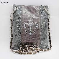 2030-NSQ-FLEUR-PEWTER - WHOLESALE RHINESTONE CRYSTAL CELLPHONE CASES/POUCHES