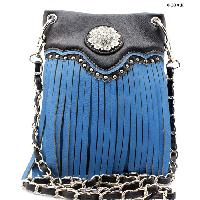 FRIN-W34F-2030-TURQ - WHOLESALE RHINESTONE CRYSTAL CELLPHONE CASES/POUCHES