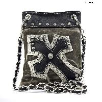 WD-930-BLACK - WHOLESALE RHINESTONE CRYSTAL CELLPHONE CASES/POUCHES