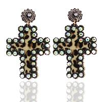 201-LEOPARD-EARRINGS-WHT