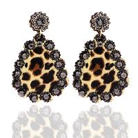 202-LEOPARD-EARRINGS-BLK