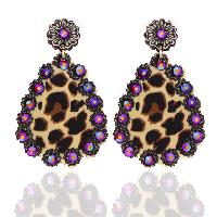 202-LEOPARD-EARRINGS-RED