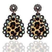 202-LEOPARD-EARRINGS-WHT