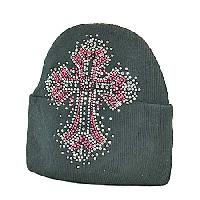 BEAN/CR-45 - WHOLESALE RHINESTONE STUDDED BEANIE CAPS/BEANIES