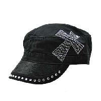 HDCD-CR/ZEBRA-BK/BK - WHOLESALE RHINESTONE HAIR ON HIDE CAPS