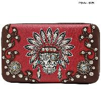 KEL-4326-RED - WHOLESALE WESTERN WALLETS