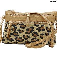 LU-005-TAN - WHOLESALE WRISTLET/CLUTCH/CROSS BODY HIPSTER PURSE