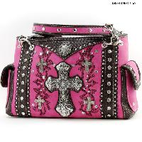 MT-893-PINK - WHOLESALE WESTERN BUCKLE PURSES