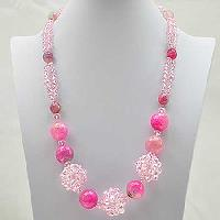 NKL-6-FUCHSIA - WHOLESALE GENUINE CRYSTAL AND GLASS NECKLACE