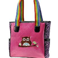 OWL-522-HTPK-SEQ - WHOLESALE CRYSTAL STUDDED HANDBAGS