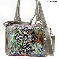 PS-111-PEWTER - WHOLESALE WESTERN PURSES